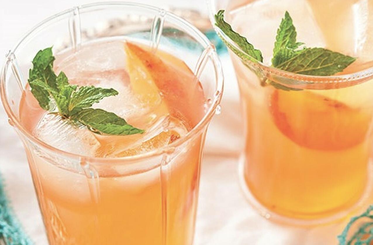 Peach Balsamic Smash Cocktail